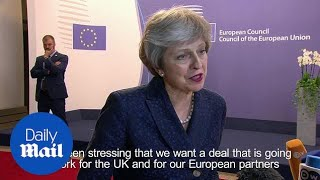 Theresa May wants 'intensified and accelerated' Brexit talks - Daily Mail thumbnail