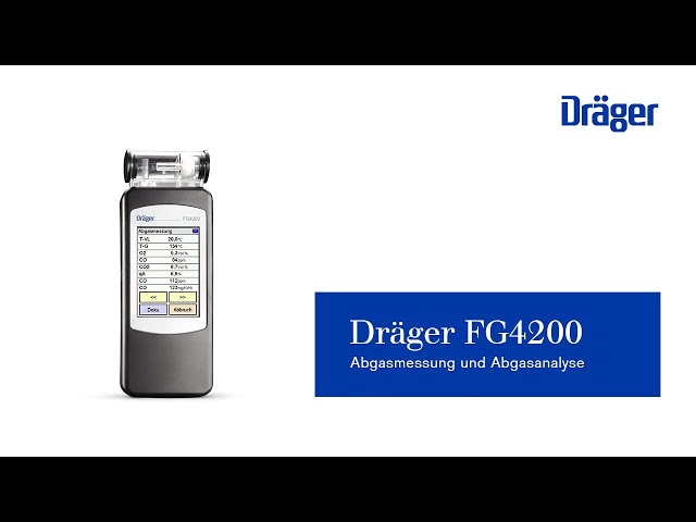 Abgasmessung und Abgasanalyse mit dem Dräger FG4200: