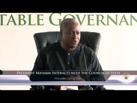 President Mahama Interacts with the Council of State 2