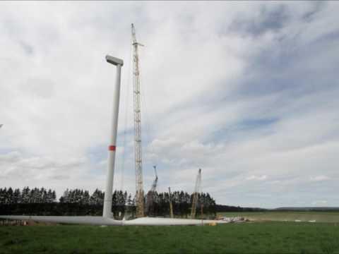 Montage éolienne ; station de production d'énergie ; renouvelable