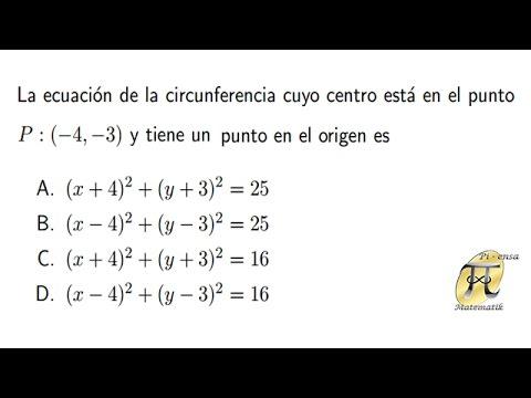 Ecuación de la circunferencia 3 - Problema tipo Universidad Nacional de Colombia