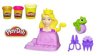 Play Doh Princess Rapunzel Hair Designs Playset From Disney Tangled Movie Fuzzy Hair Playdough