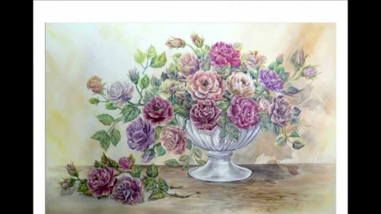 Drawing painting bouquet of roses part 1 youtube izmirmasajfo