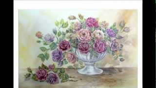 Drawing & Painting  Bouquet of roses. Part -1
