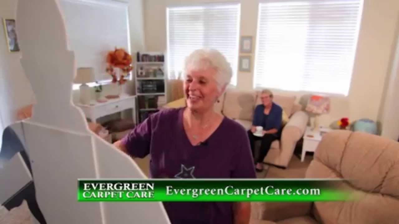Evergreen Carpet Care Tv Standee Commercial