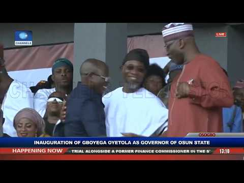 Gboyega Oyetola Sworn In, Takes Over As Osun State Governor Pt.2 |Live Event|