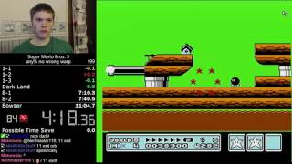 (10:59) Super Mario Bros. 3 any% no wrong warp speedrun