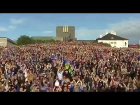 İzlanda taraftarlarının performansı