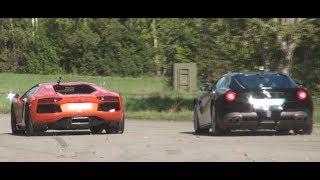 Ferrari 599 GTO vs F12Berlinetta vs Lamborghini Aventador LP700-4