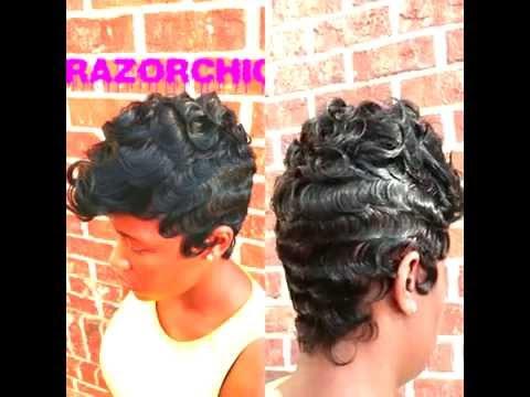 Beautiful Wave Technique by Razor Chic of Atlanta - YouTube