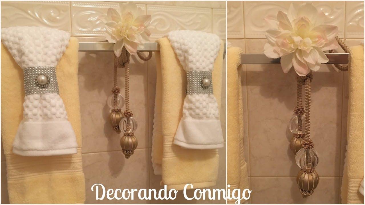 Como decorar toallas de ba o con glamour y sencillez for Ideas para decorar banos infantiles