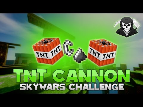 THE TNT CANNON CHALLENGE + KILLING TWO HACKERS! ( Hypixel Skywars )