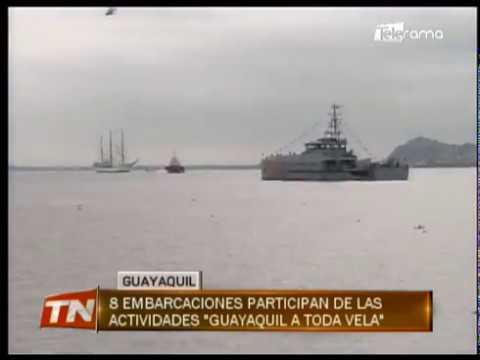 8 embarcaciones participan de las actividades Guayaquil a toda vela