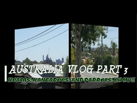 AUSTRALIA TRAVEL VLOG | PART 3 | KOALAS! KANGAROOS! AND PARROTS! OH MY!!! | SEPTEMBER 2017