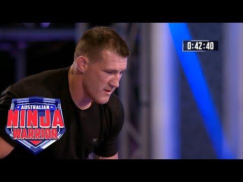 Ninja run: Paul Gallen (Semi final)   Australian Ninja Warrior 2018
