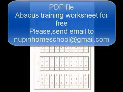 Abacus worksheet - YouTube