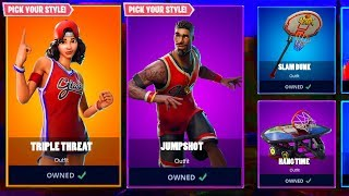 BASKETBALL SKINS RETURN! (RELEASE DATE) Fortnite RARE OG SKIN COMING BACK! Triple Threat RETURNING
