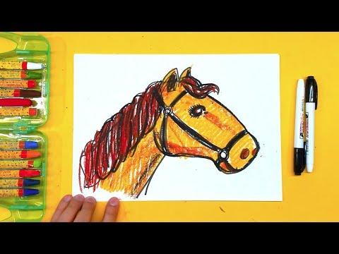 Как нарисовать ГОЛОВУ ЛОШАДИ / учимся рисовать лошадь