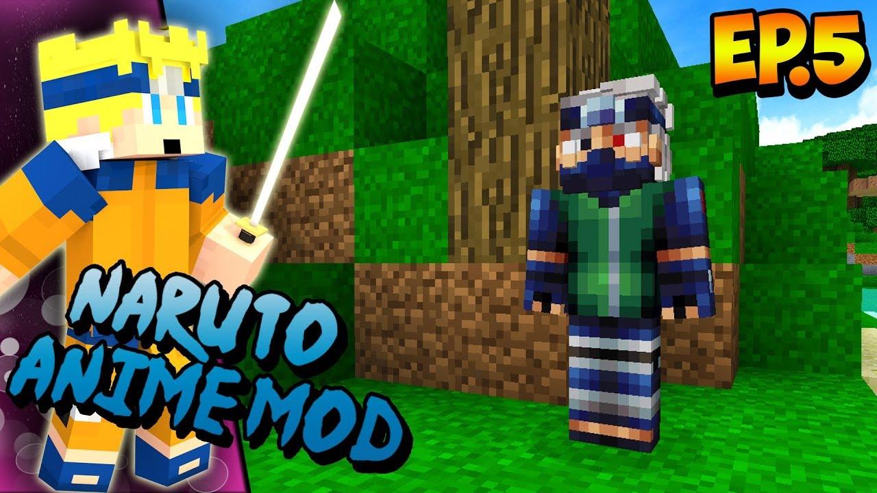 Naruto Anime Mod- Ep 5- I HAVE TO FIGHT KAKASHI!?(Minecraft Naruto