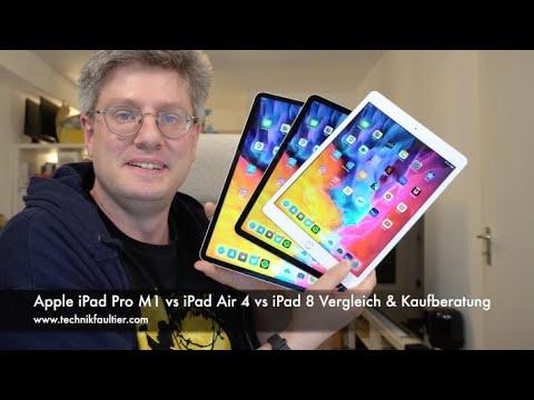 Apple iPad Pro M1 vs iPad Air 4 vs iPad 8 Vergleich & Kaufberatung