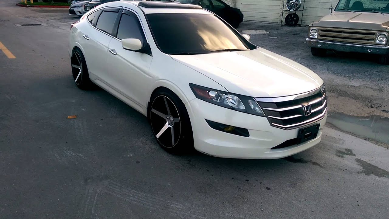 "Honda Accord Sport >> DUBSandTIRES.com 20"" Inch KMC KM685 District Wheels 2013 Honda Crosstour Review Miami - YouTube"