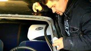 Как восстановить рамку лобового стекла №129