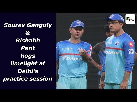 Watch: Sourav Ganguly & Rishabh Pant hogs limelight at Eden Gardens ahead of KKR match   IPL 2019