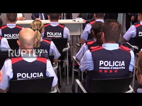Spain: Cambrils police receive congratulations from President of the Generalitat