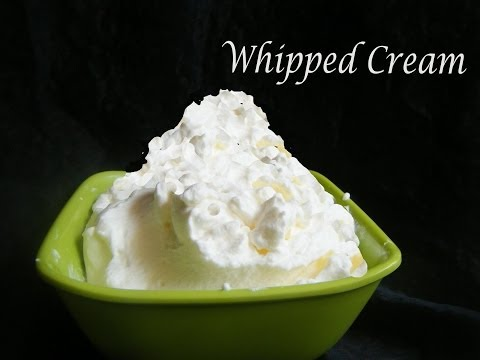 Homemade Whipped cream in Tamil [ in just three minutes]