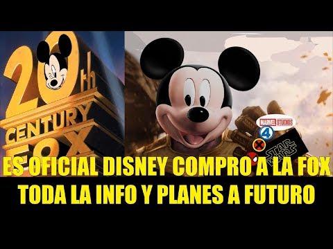 Es Oficial Disney Compro a la FOX Toda la Info y Planes a Futuro