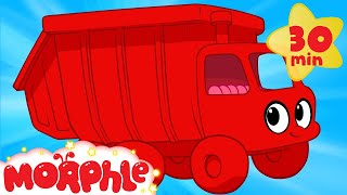 My Red Garbage Truck's Weekend Day - My Magic Pet Morphle Truck and Vehicle videos
