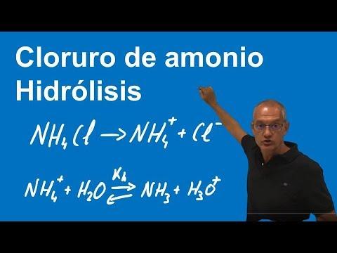 Hidrólisis Cloruro De Amonio