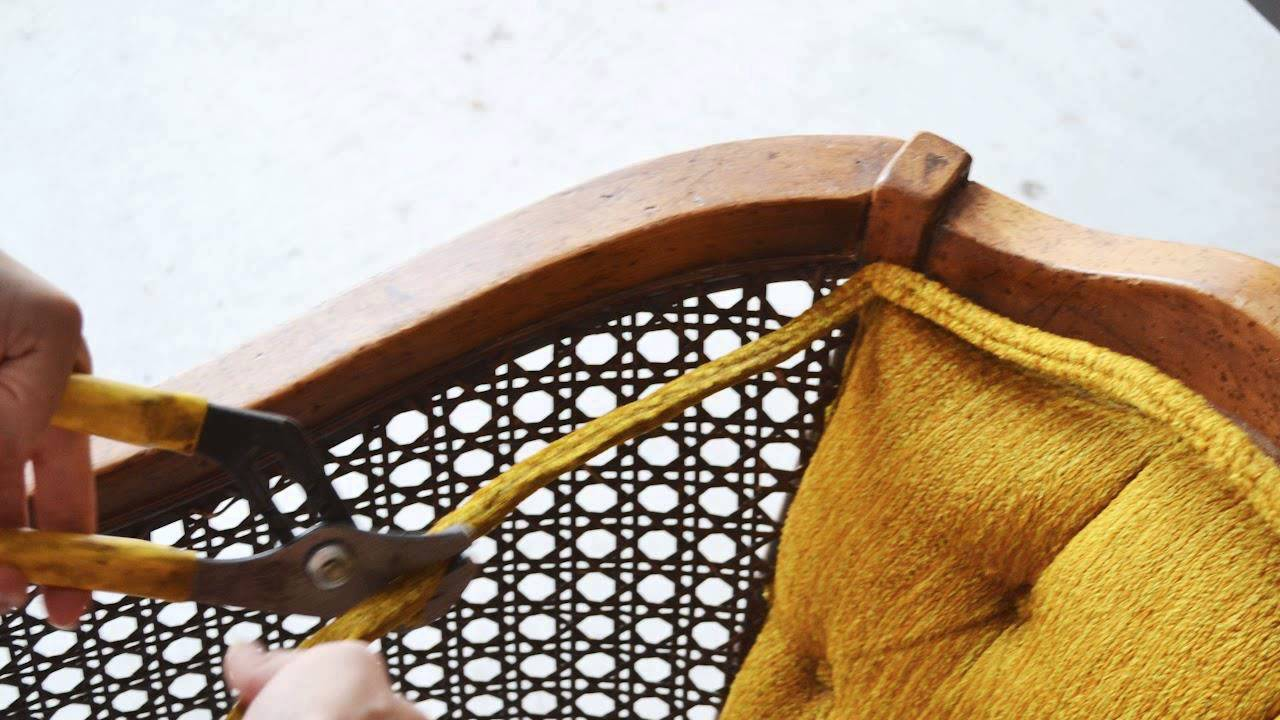 How To Replace Chair Cane With Fabric Youtube
