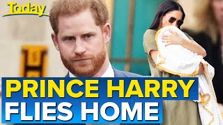 Prince Harry departs UK following Prince Philip's funeral | Today Show Australia