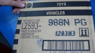 usa n case 2013 npg sealed hot wheels case unboxing