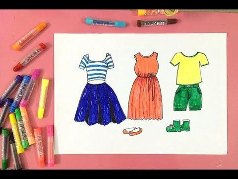 Dạy bé học tập vẽ váy thời trang quần áo trang phục | Dạy bé học | Tất tần tật thông tin về thời trang nữ