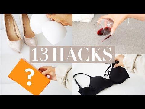 13 CHEAP LIFESTYLE & BEAUTY HACKS - Red Wine Spill, Dandruff, & Bra Pads??