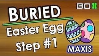 "BO2 Zombies ""Buried"" EASTER EGG! Step #1 ""Building Hangman"