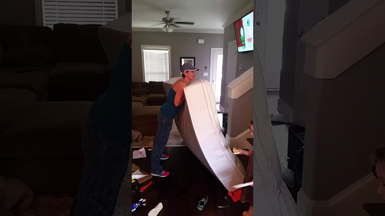 Wife Moving Mattress Upstairs Alone Youtube