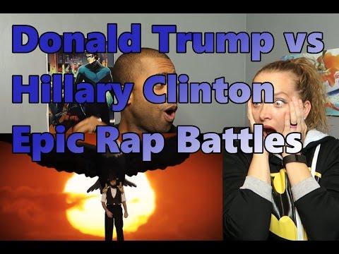 Donald Trump vs Hillary Clinton  Epic Rap Battles of History  (Reaction 🔥)