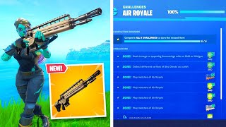 NEW INFANTRY RIFLE & AIR ROYALE CHALLENGES in Fortnite! (New Free Rewards)