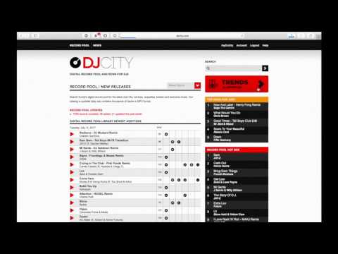 DJcity MP3 Record Pool Video Talkthrough