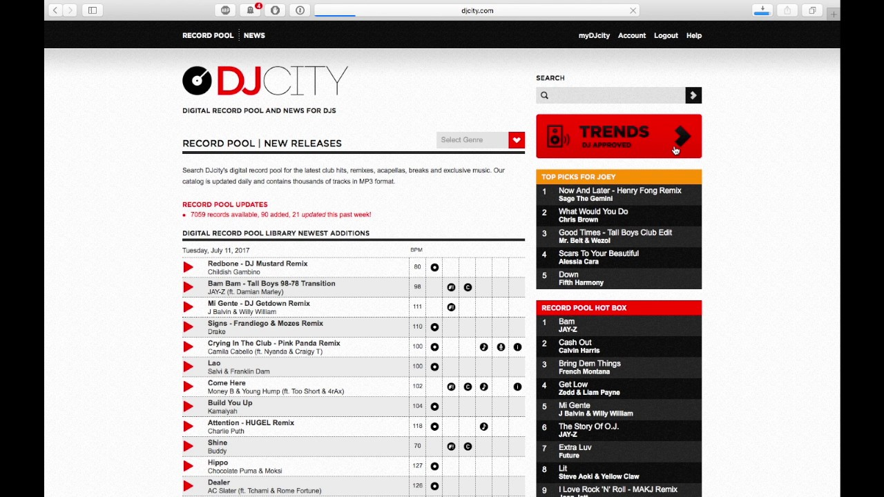 DJcity Online Record Pool Review - Digital DJ Tips