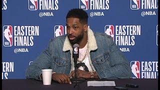 Tristan Thompson Postgame Interview - Game 4   Celtics vs Cavaliers   2018 NBA East Finals