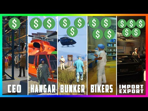 GTA Online Business Guide - TOP 5 Best Business To Buy! (CEO VS Import/Export VS Bikers VS Bunkers)