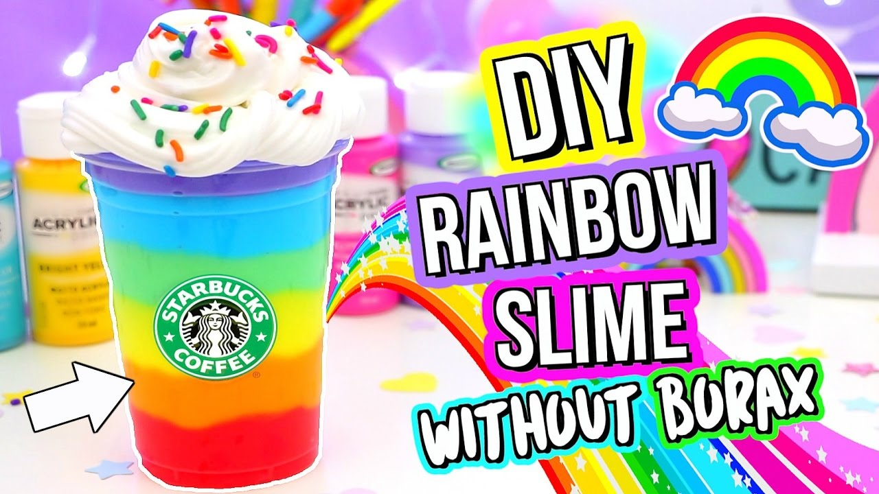 Diy Slime Diy Best Rainbow Slime Recipe How To Make