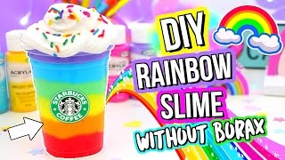 DIY SLIME! DIY BEST Rainbow Slime Recipe! How To Make Slime!