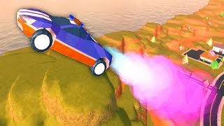 FLYING NEW FAST McCLAREN with ROCKET BOOST!! (Roblox Jailbreak)