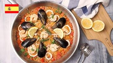 [Spain] Seafood Paella Recipe 스페인 요리 빠에야 만들기