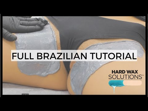 BIKINI LINE / BRAZILIAN WAXING TUTORIAL WITH HARD WAX